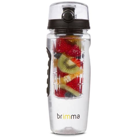 Terlaris My Bottle Infuse Water Free Bag fruit infused water bottle 32 oz leak proof 100 bpa free flavor infuser brimma