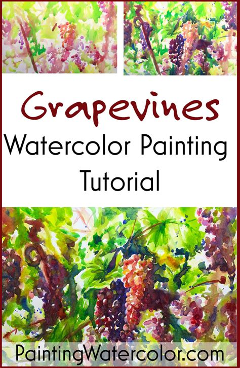 watercolor grapes tutorial painting grape vines in watercolor watercolor painting