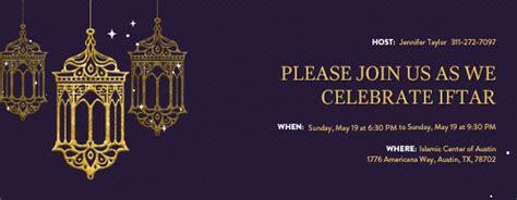ramadan invitation card template free ramadan invitations evite