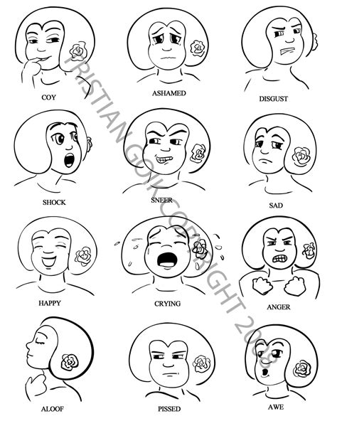 emotion faces coloring pages emotions coloring pages