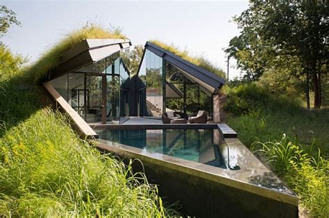 underground house designs underground house encased in glass offers a modern take on native american pit house