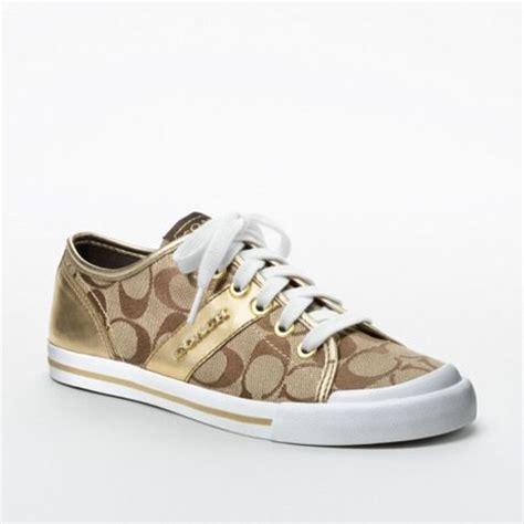 coach shoes coach fillmore sneaker in beige khaki gold lyst