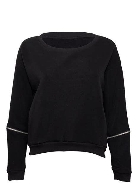 Zip Sleeve Sweatshirt zip sleeve sweatshirt attitude clothing