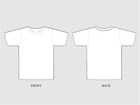 54 Blank T Shirt Template Exles To Download Vector And Raster T Shirt Template