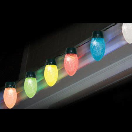jumbo christmas light set of 10 led color changing jumbo c9 multi color lights green wire walmart