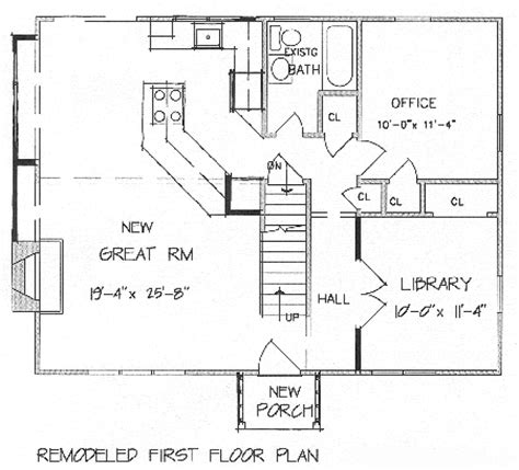 floor plans for adding onto a house add a second floor cap04 5179 the house designers