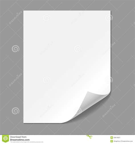 Paper Corner Fold - single paper page with folding corner royalty free stock