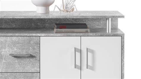 kommode highboard kommode drift highboard in beton optik grau und wei 223 inkl