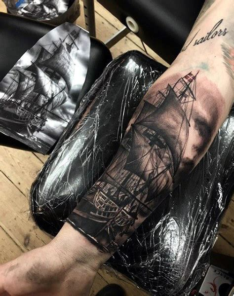 ship tattoo black and grey 100 black and grey tattoos for men grandeur of gradients