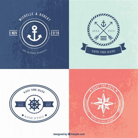 wedding logo vector nautical wedding logo templates vector premium