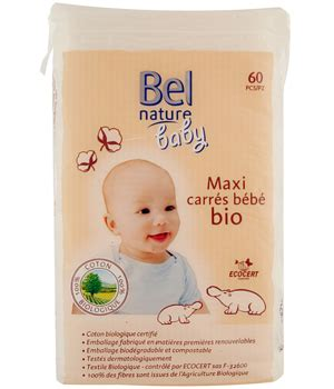 naturm bel bel nature 60 maxi square cotton pads for baby organic