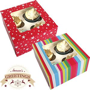 buy christmas cupcake boxes 72 x small boxes at home