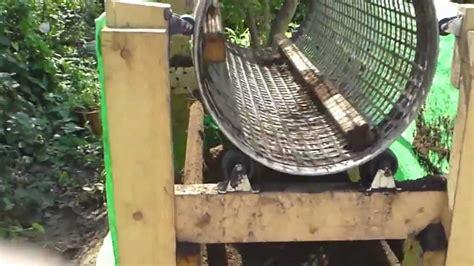 homemade rotary soil screen sifter youtube