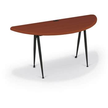 Circular Computer Desk by Curved Half Computer Desk Cherry Black Small