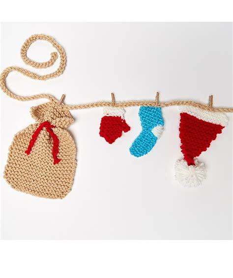 knitting pattern christmas garland santa s wardrobe garland free christmas knitting pattern