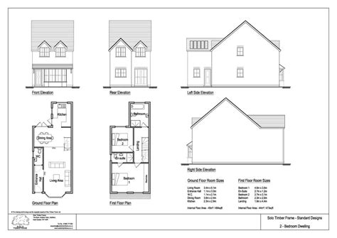 House Design Drawings Uk Townsend 2 2 Bedroom House Design Timber Frame