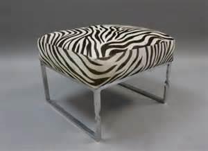Vanity Chair Zebra Zebra Skin Chrome Frame Bench Or Vanity Seat