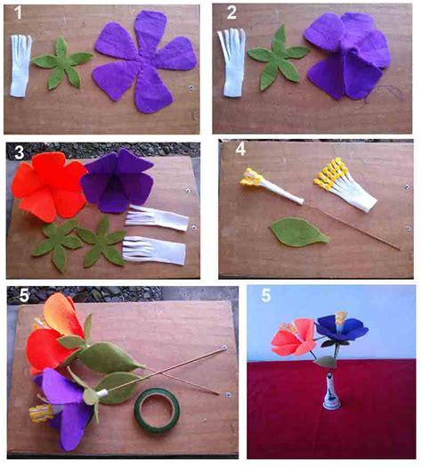 tutorial membuat bunga sepatu  kain flanel