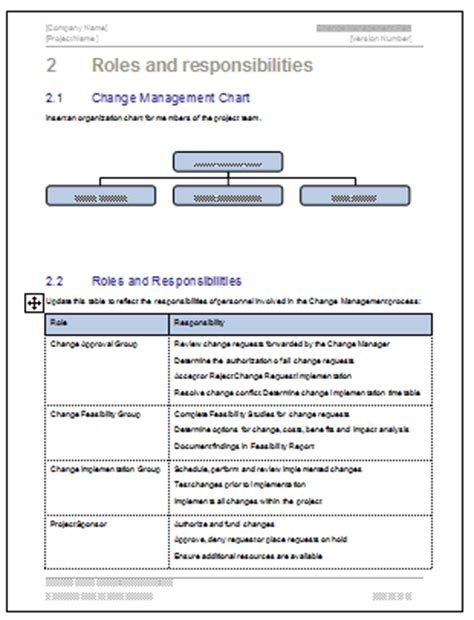 change management plan template ms word excel