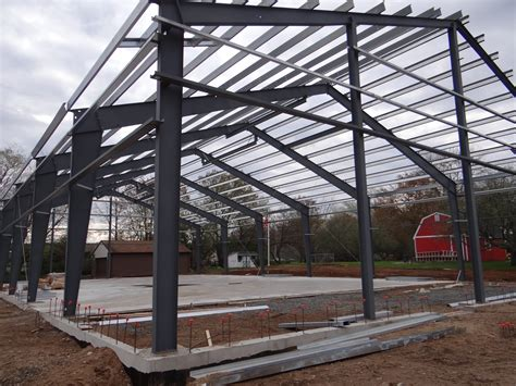Steel Shed Construction by Construction Photos Fidelity Steel Buildings