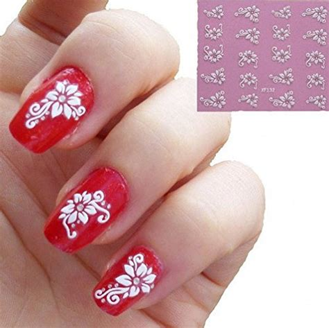 3d Nail Sticker u 10sheets 3d white flower nail stickers decals nails tips for womens xf132