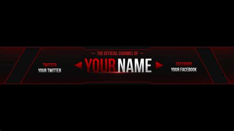 2013 youtube one channel banner template by sogaming surowy