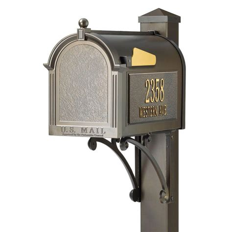 whitehall products whitehall superior bronze mailbox
