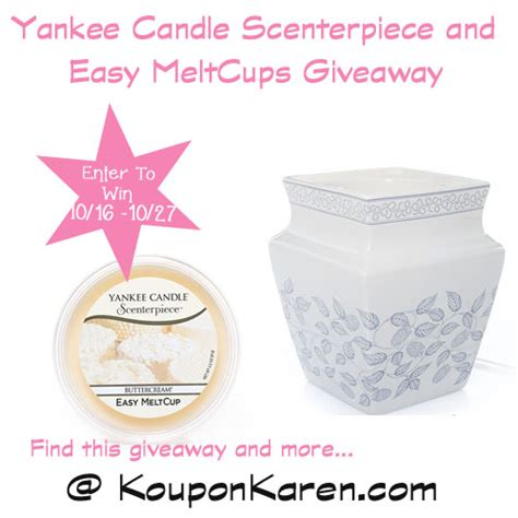 Yankee Giveaways - yankee candle scenterpiece and easy meltcups review giveaway