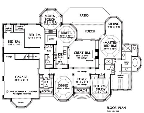 Large Ranch Floor Plans Large Ranch House One Story Ranch House Floor Plans House