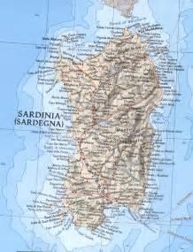 Sardinia Italy Map by Sardinia Italy