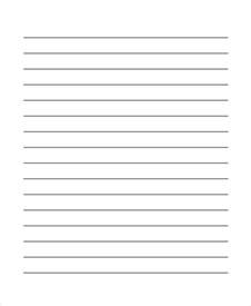 How To Make Lined Paper - 29 printable lined paper templates free premium templates
