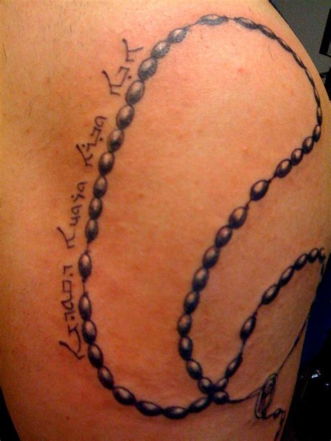 cross and rosary bead tattoos rosary tattoos ideas meaning rosary