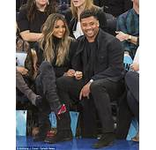 Ciara Snuggles Up To Russell Wilson Courtside For