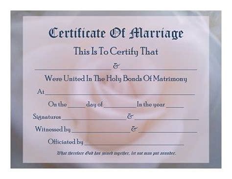 mock certificate template 24 best images about marriage certificates on