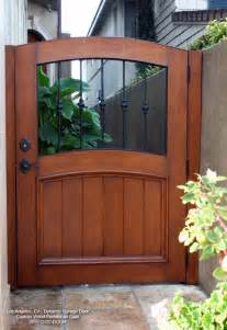 handcrafted wooden architectural pedestrain gates