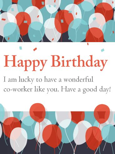 printable birthday cards coworker have a good day happy birthday card for co worker we