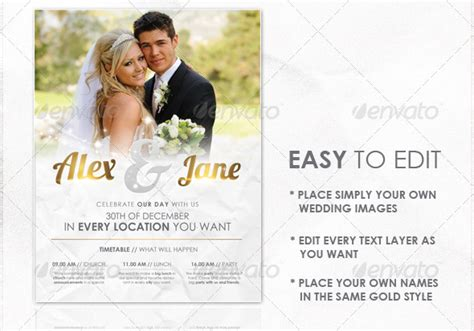 15 great wedding flyer templates design freebies