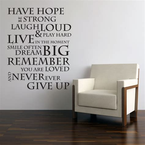wall inspiration have hope inspirational wall quote saying easy peel and