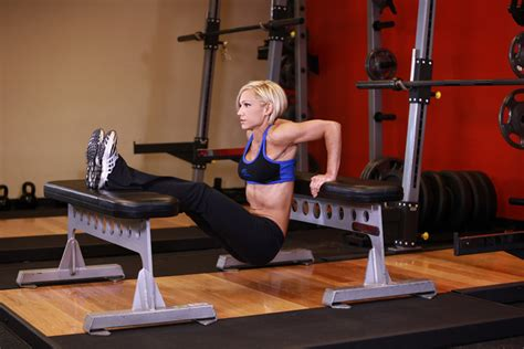 cross bench dips burn it up full body superset workout girlonamission net