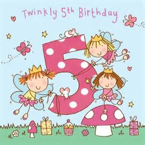 5 twinkly 5th birthday handfinished 5th birthday card 163 2 40 a great range of 5 twinkly 5th