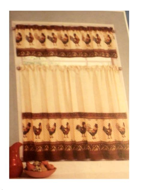 tuscany kitchen curtains tuscan roosters kitchen curtains tiers valance set