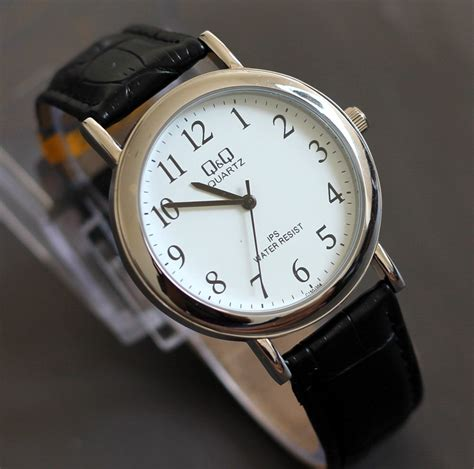 Harga Jam Tangan Q Q Quartz 10 Bar jam tangan qq original tali karet kulit water resistant