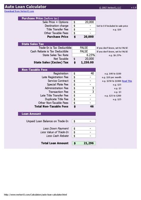 Download Car Payment Calculator Excel For Free Page 3 Formtemplate Car Payment Calculator Excel Template