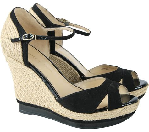 Charles N Keith Wedges charles keith brown and black ankle wedges