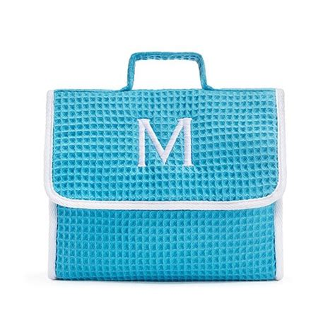Mac Makeup Bag In Blue by Stand Up Waffle Makeup Bag Turquoise The Knot Shop