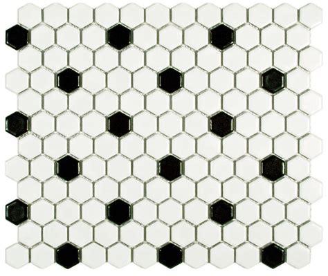 2 new porcelain hex tile floor options for your vintage pastel bathroom retro renovation