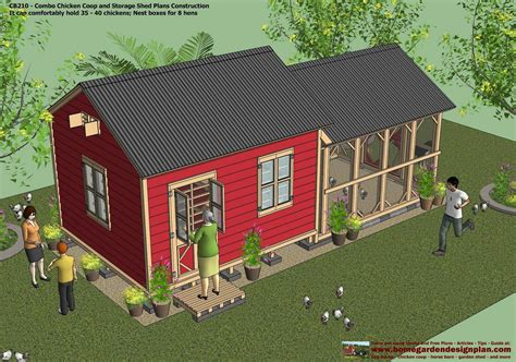 Controlled Poultry Sheds Design by Cb210 Combo Plans Chicken Coop Plans Construction Garden