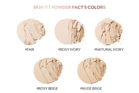 Rosy Ivory Skin Fit Powder Pact box korea pony effect skin fit powder pact 8g