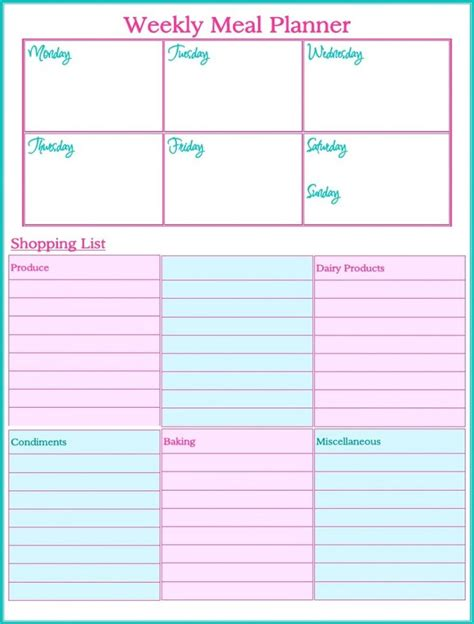 Easy Printable Meal Planner | easy meal planning tips get organized pinterest