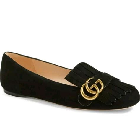 Flat Shoes Gucci Import 1 24 gucci shoes gucci marmont fringe suede ballerina flat size38 5 from sylwia s closet on